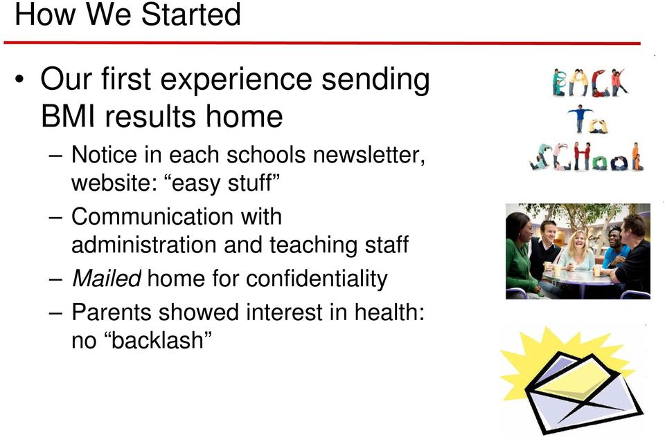 Communication with administration and teaching staff Mailed