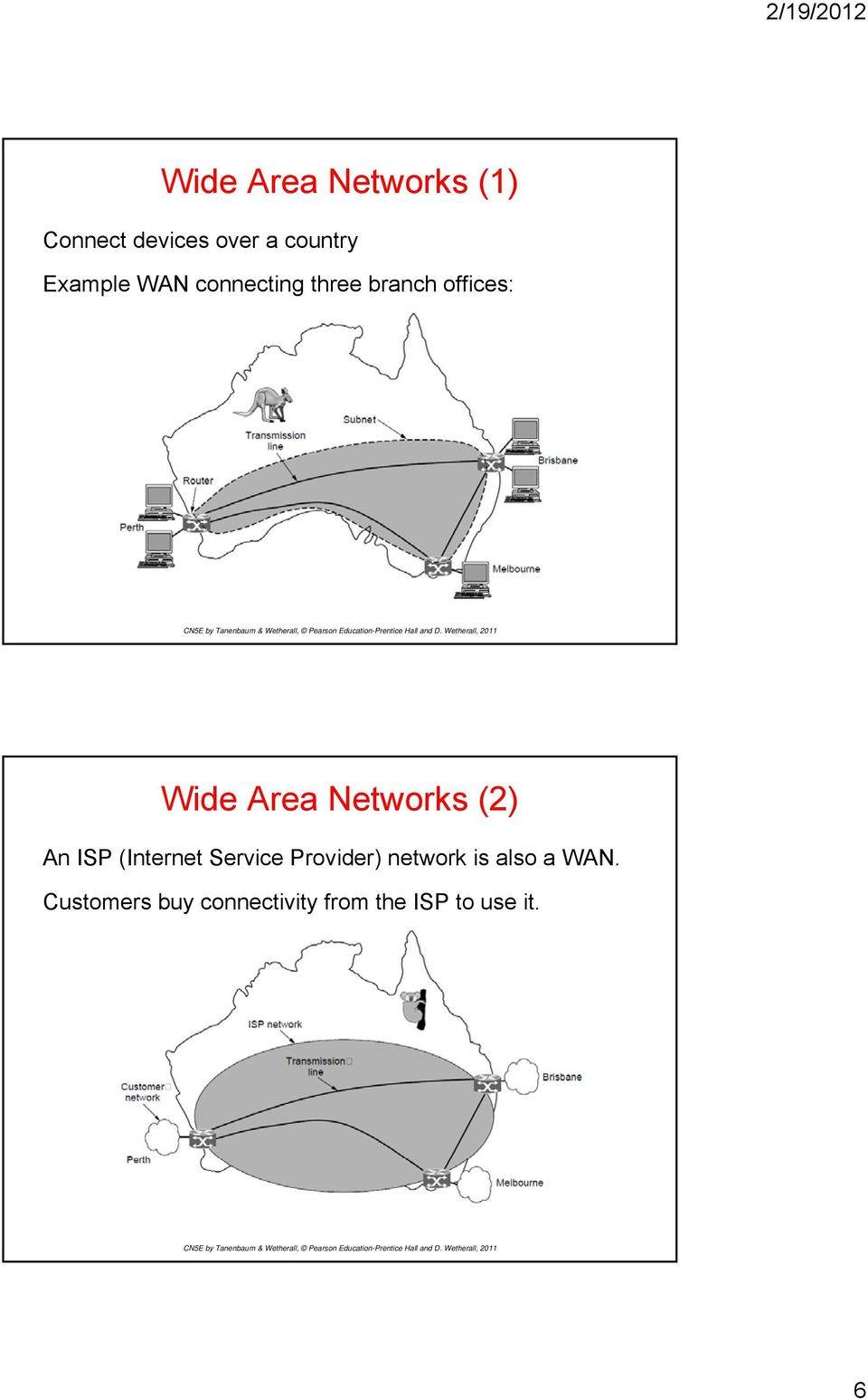 Networks (2) An ISP (Internet Service Provider) network