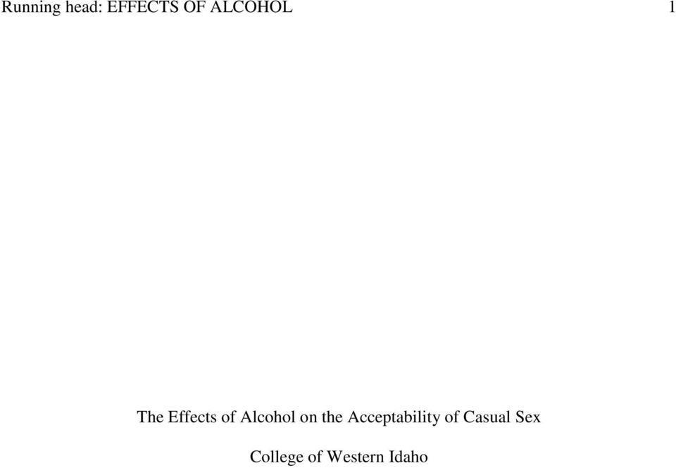 Alcohol on the Acceptability