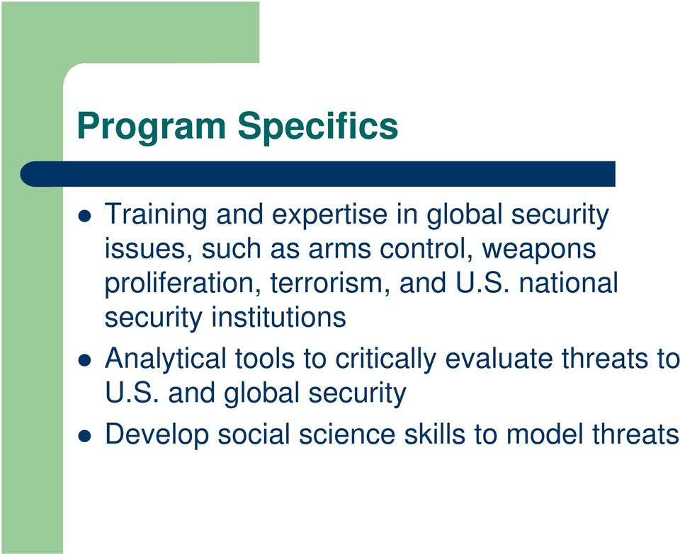 national security institutions Analytical tools to critically evaluate