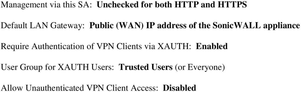 Authentication of VPN Clients via XAUTH: Enabled User Group for XAUTH
