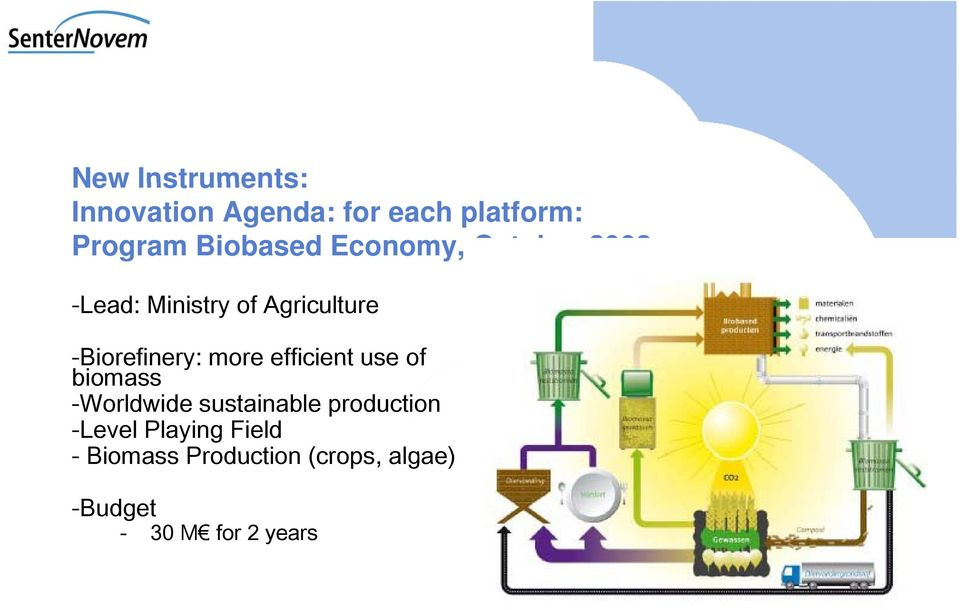 efficient use of biomass -Worldwide sustainable production -Level