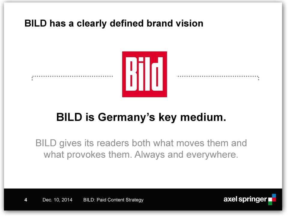BILD gives its readers both what moves them and