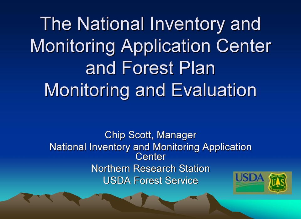 Scott, Manager National Inventory and Monitoring