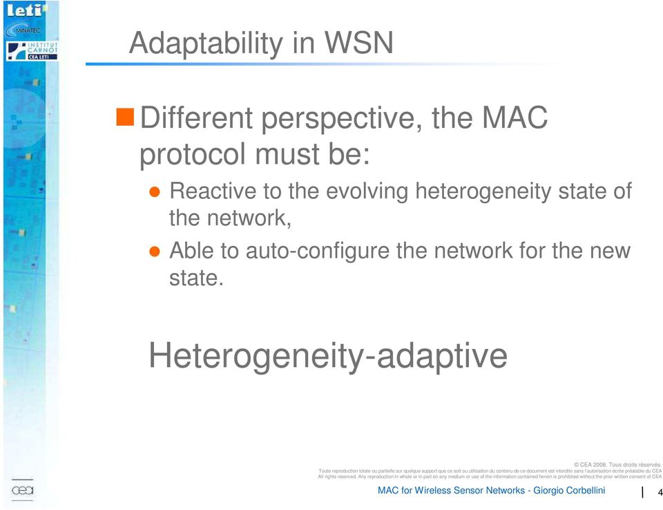 heterogeneity state of the network, Able to