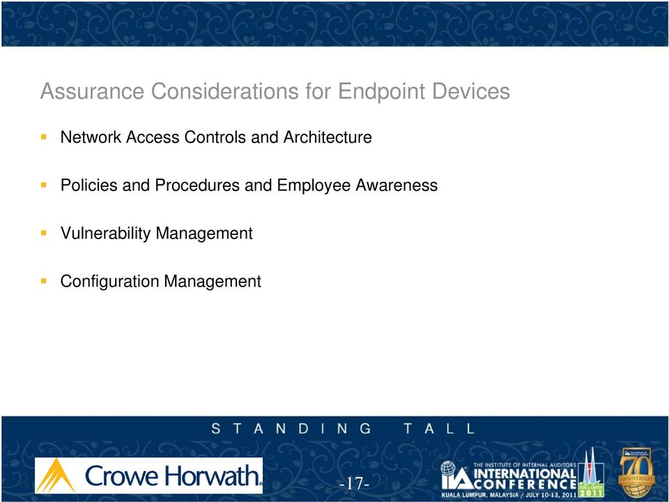Policies and Procedures and Employee Awareness