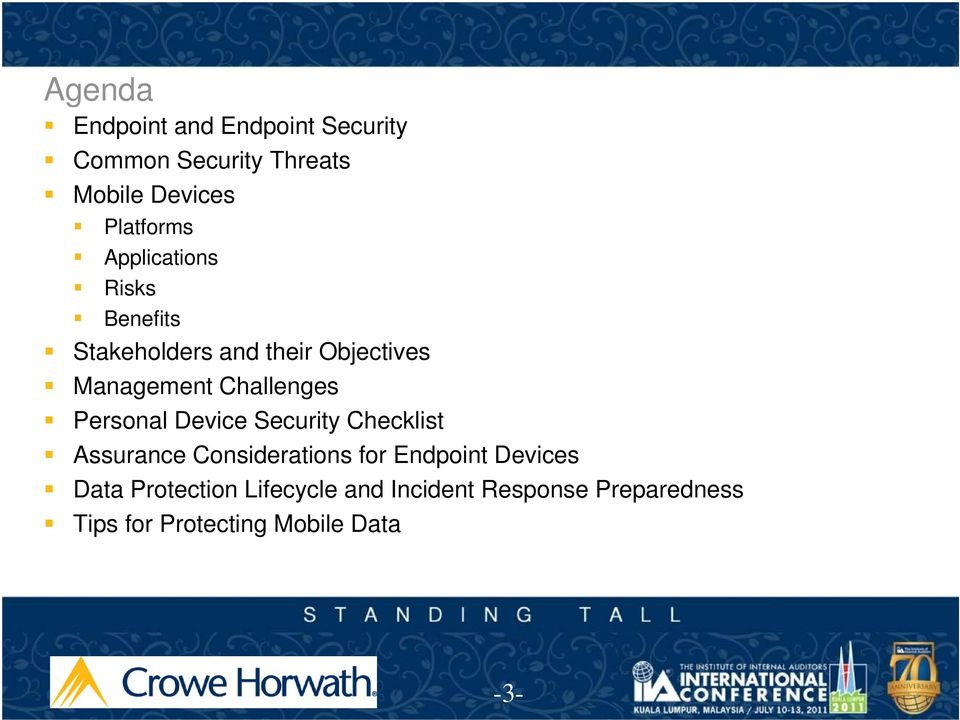 Personal Device Security Checklist Assurance Considerations for Endpoint Devices Data
