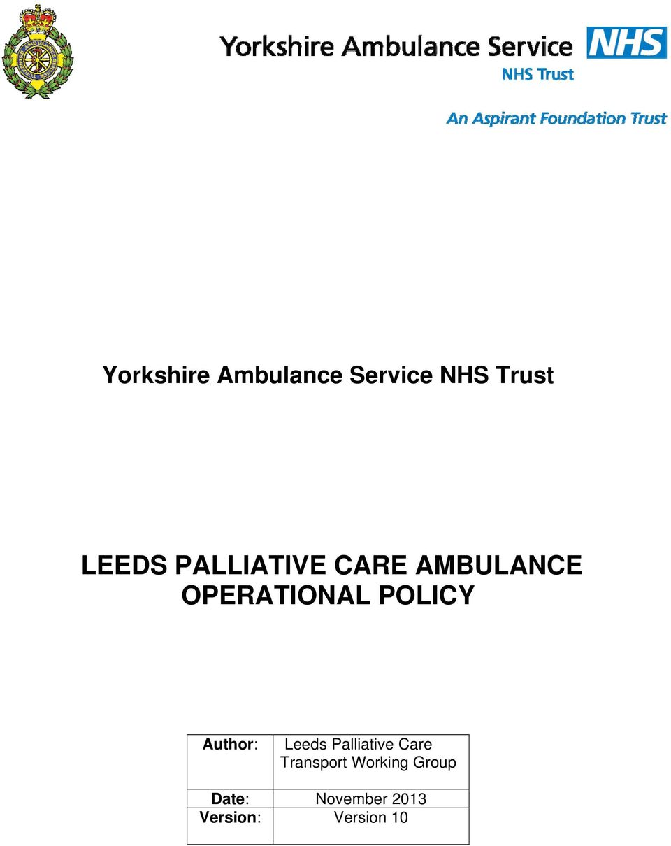 Author: Leeds Palliative Care Transport