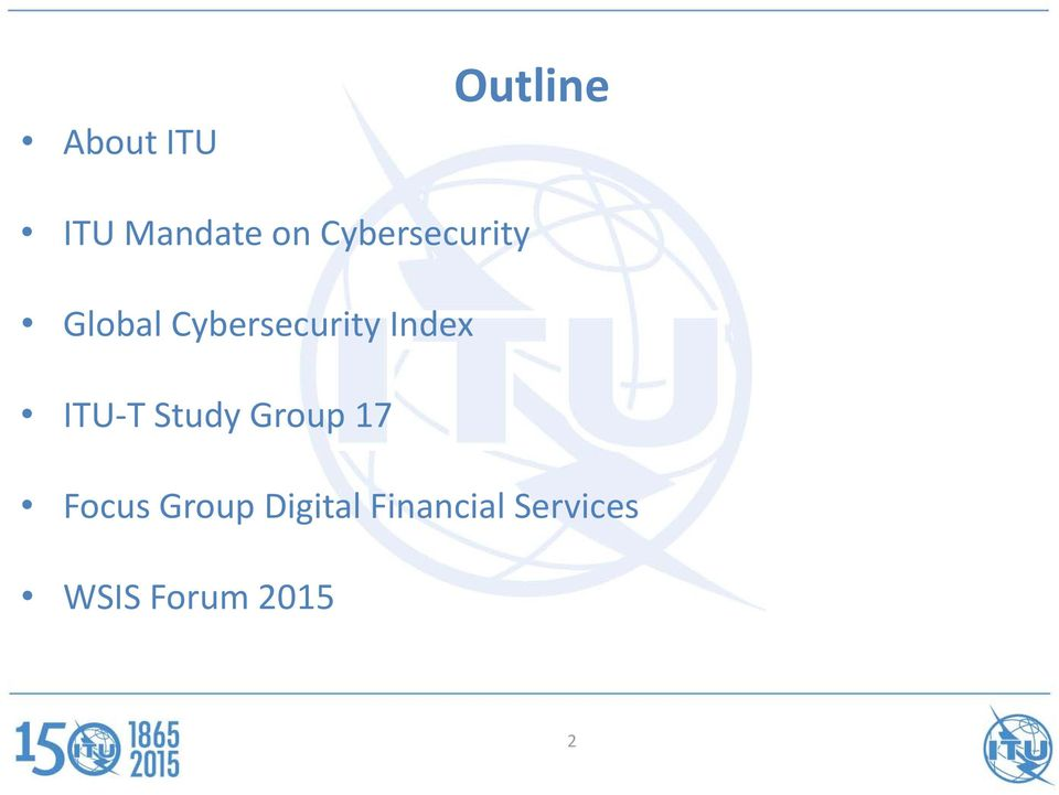 Index ITU T Study Group 17 Focus