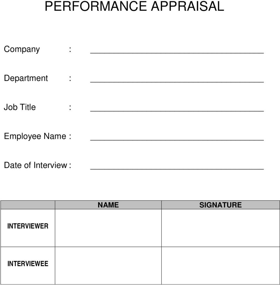 Employee Name : Date of