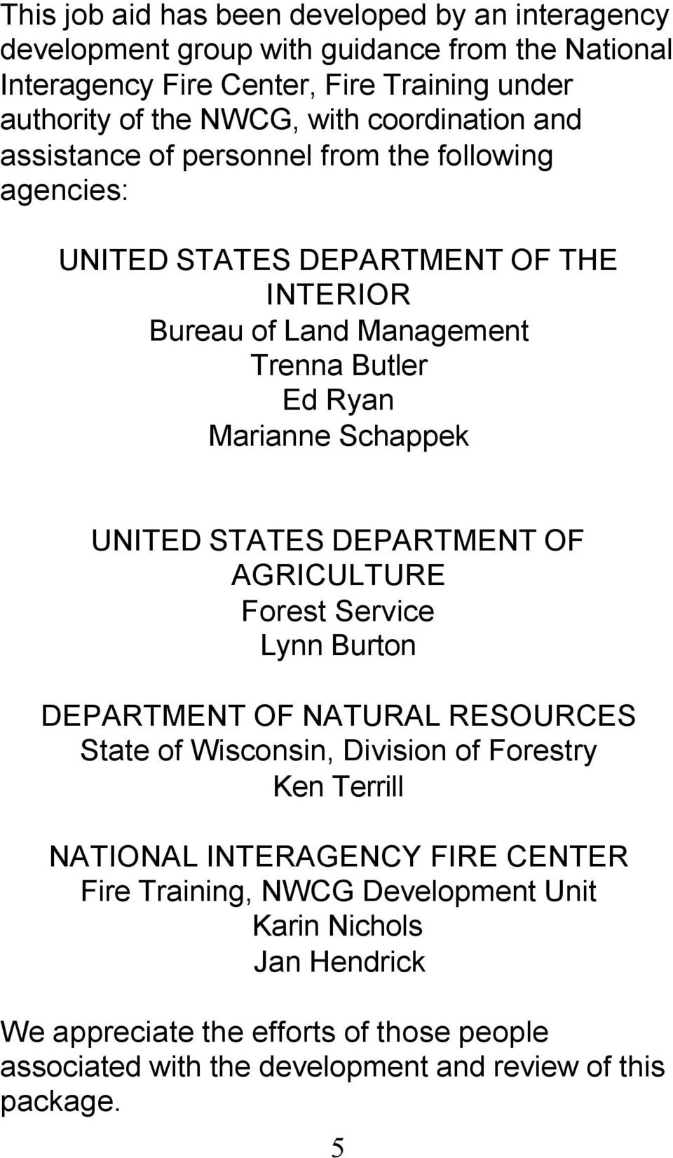 High Quality Schappek UNITED STATES DEPARTMENT OF AGRICULTURE Forest  Service Lynn Burton DEPARTMENT OF NATURAL RESOURCES
