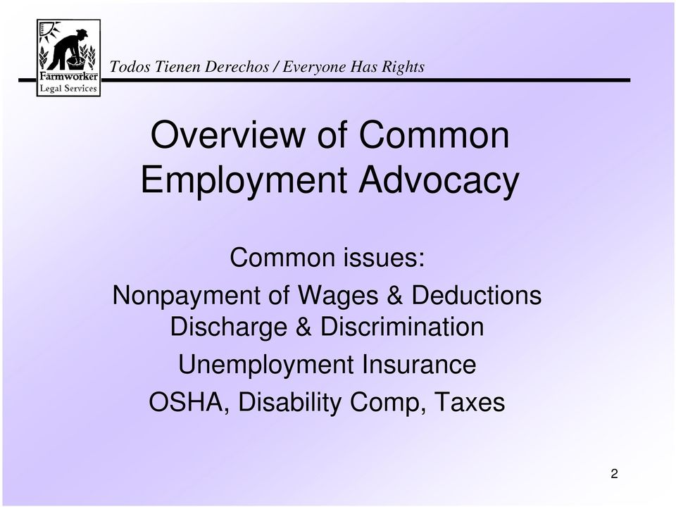 Deductions Discharge & Discrimination