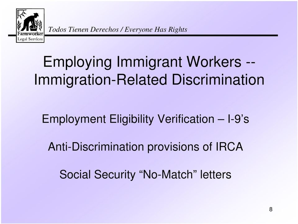 Eligibility Verification I-9 s