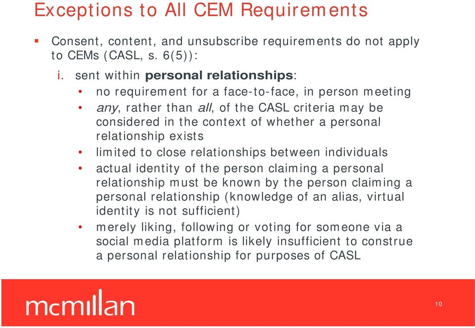 personal relationship exists limited to close relationships between individuals actual identity of the person claiming a personal relationship must be known by the person claiming