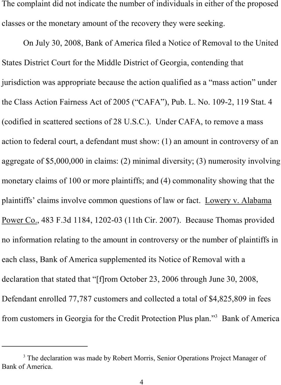 qualified as a mass action under the Class Action Fairness Act of 2005 ( CAFA ),