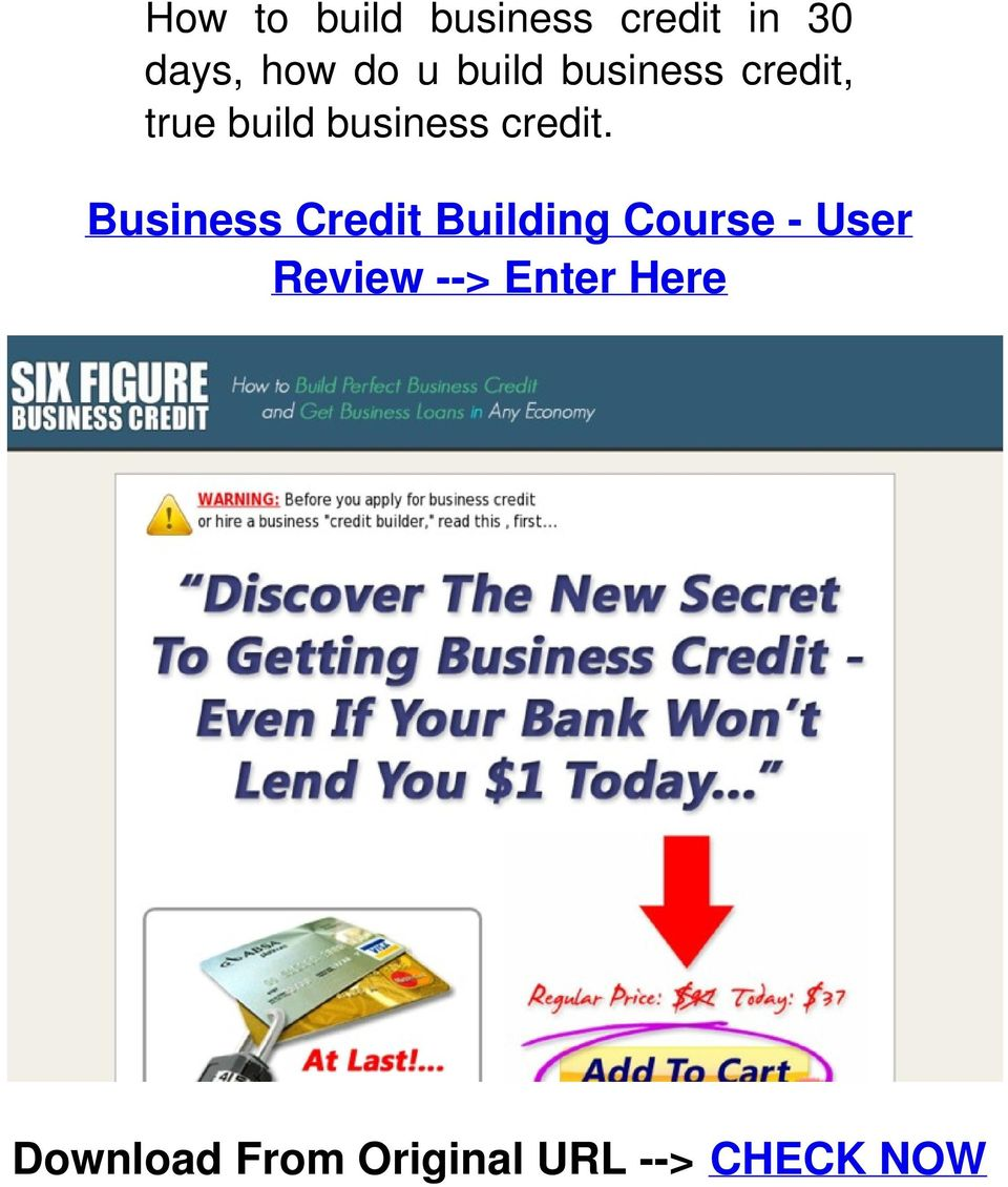 Business Credit Building Course - User Review -->