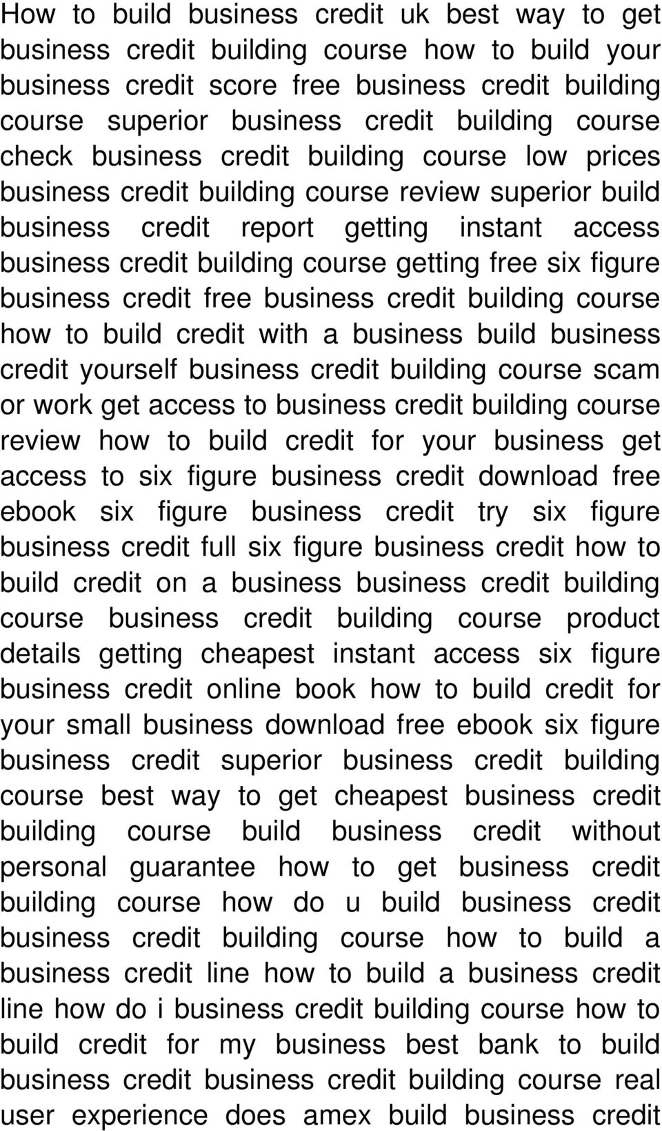 figure business credit free business credit building course how to build credit with a business build business credit yourself business credit building course scam or work get access to business