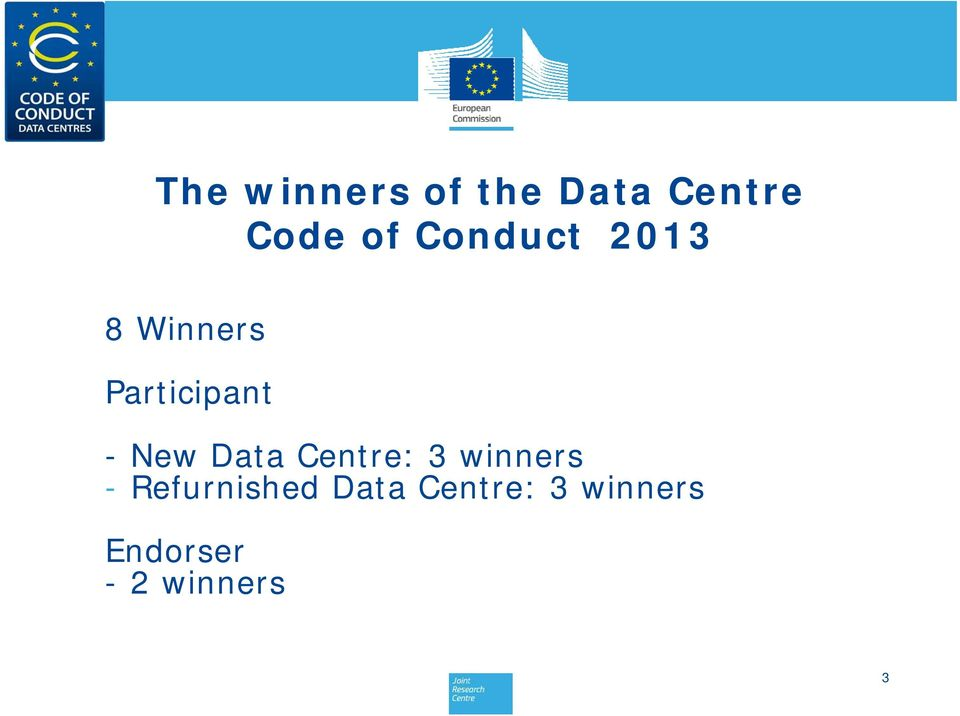 Data Centre: 3 winners - Refurnished