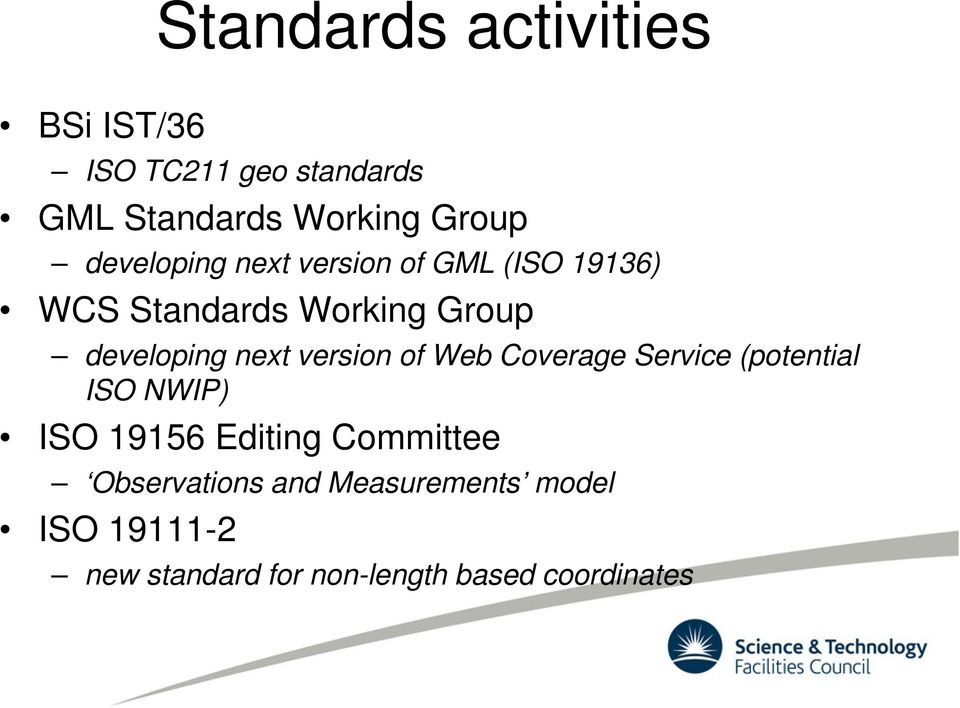 version of Web Coverage Service (potential ISO NWIP) ISO 19156 Editing Committee