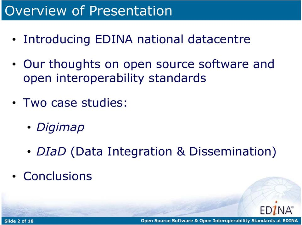 interoperability standards Two case studies: Digimap