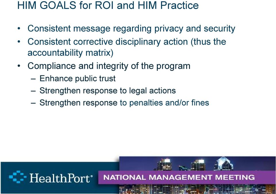 matrix) Compliance and integrity of the program Enhance public trust
