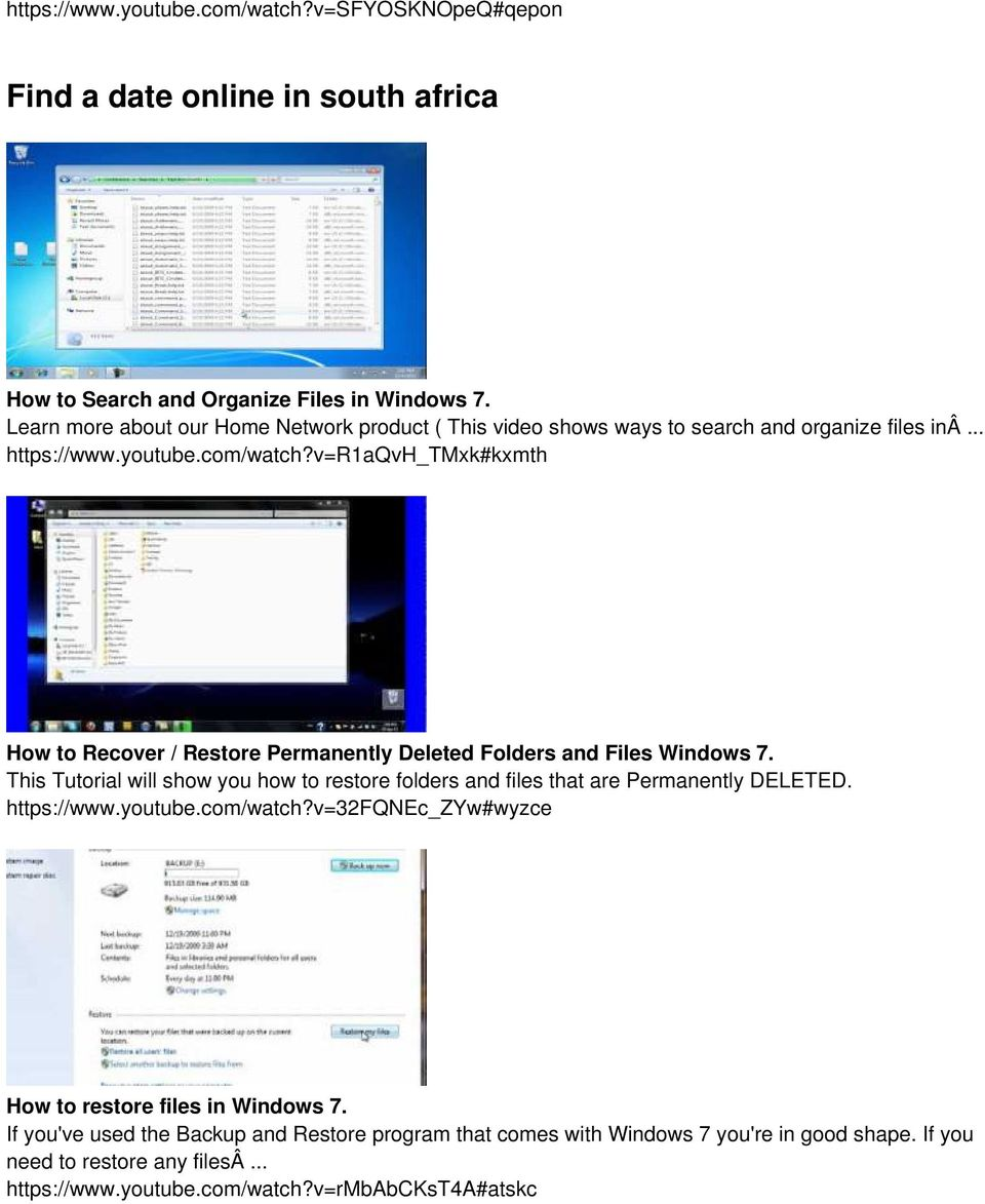 v=r1aqvh_tmxk#kxmth How to Recover / Restore Permanently Deleted Folders and Files Windows 7.