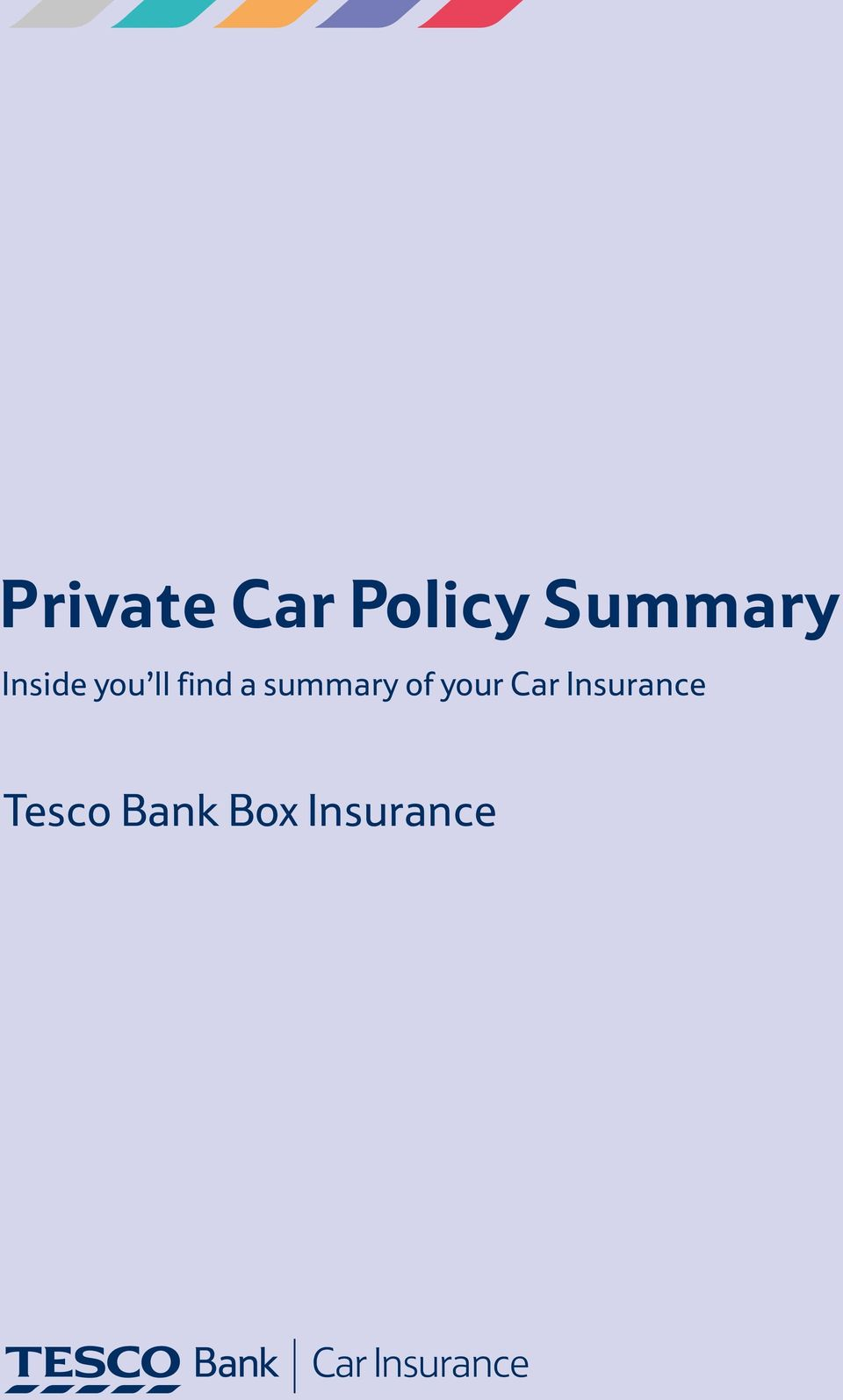 of your Car Insurance Tesco