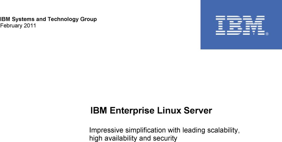 Server Impressive simplification with