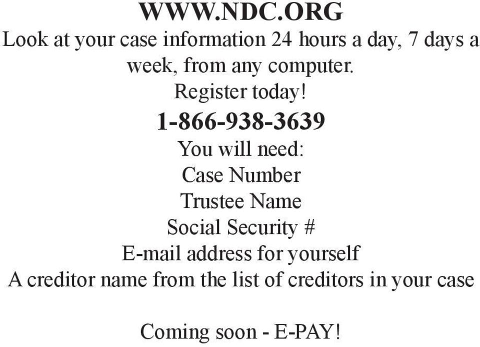 any computer. Register today!