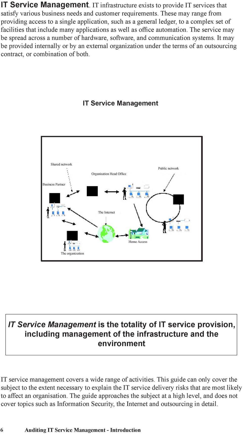 The service may be spread across a number of hardware, software, and communication systems.
