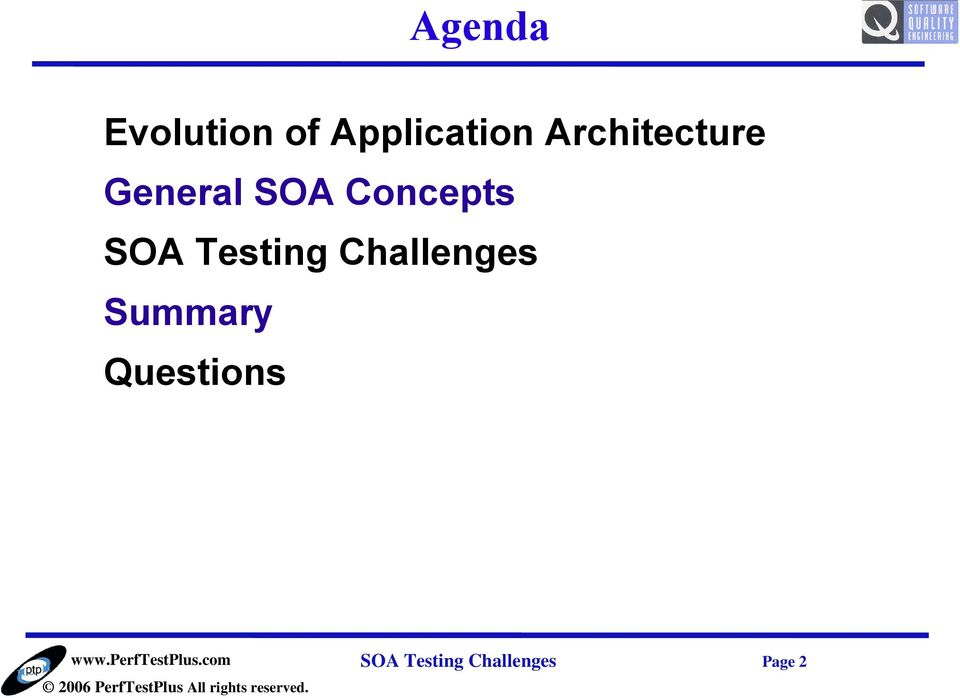 SOA Testing Challenges Summary