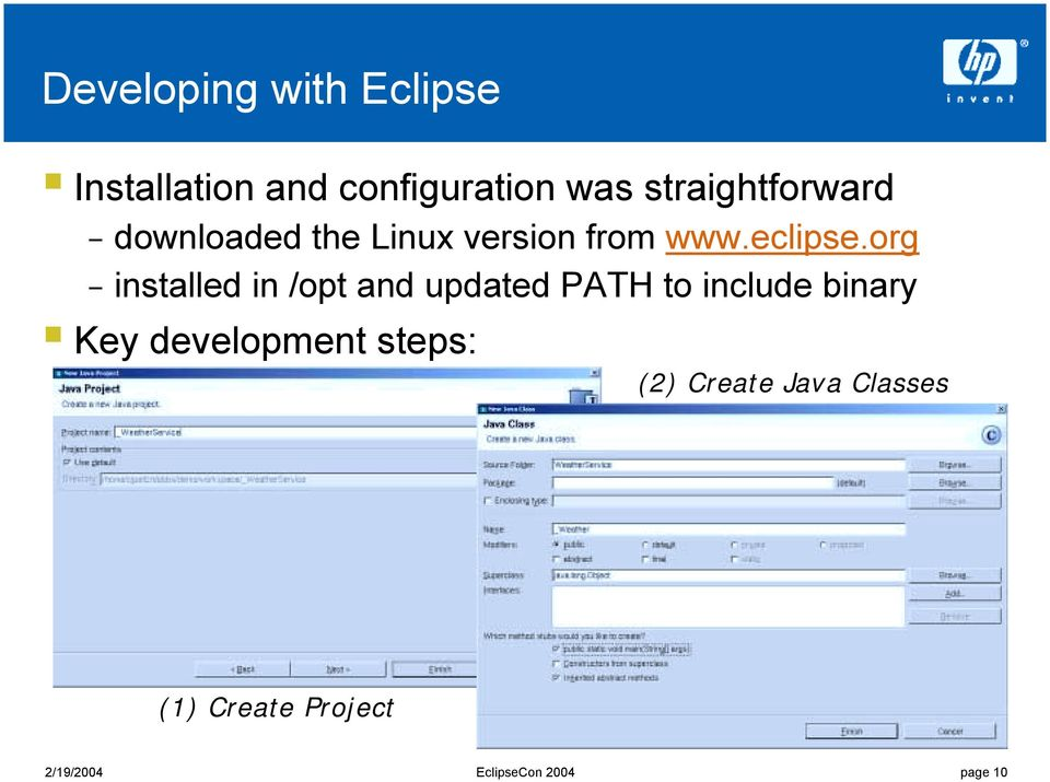 Linux version from www.eclipse.