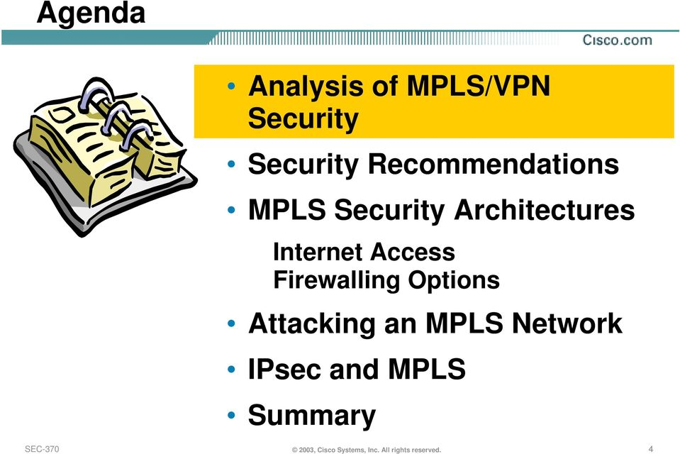 Access Firewalling Options Attacking an MPLS Network