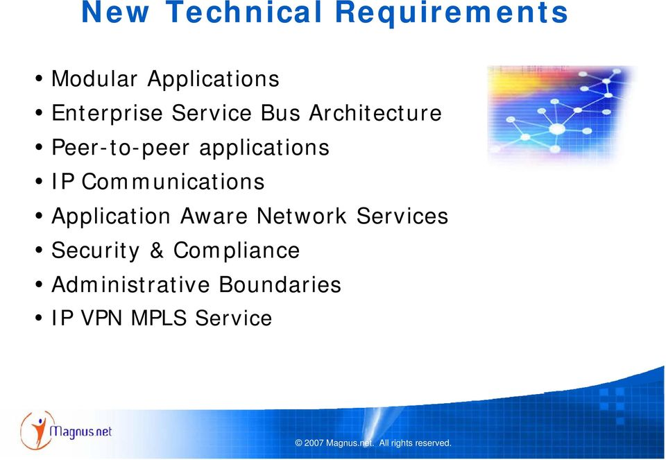 applications IP Communications Application Aware Network