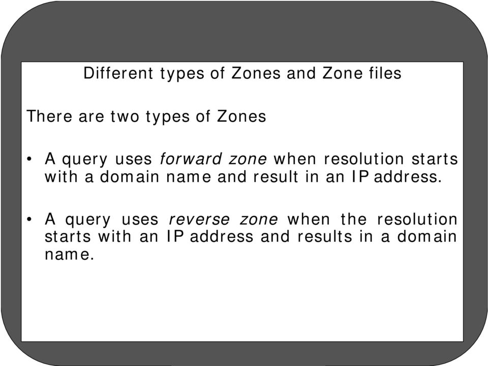 domain name and result in an IP address.