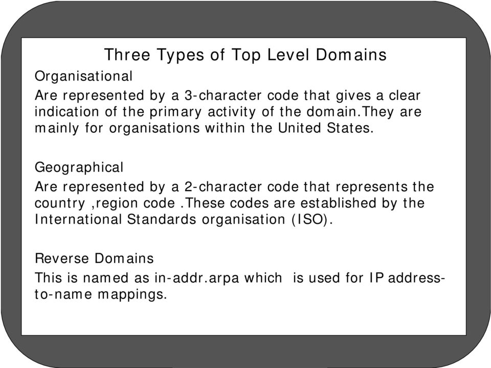Geographical Are represented by a 2-character code that represents the country,region code.