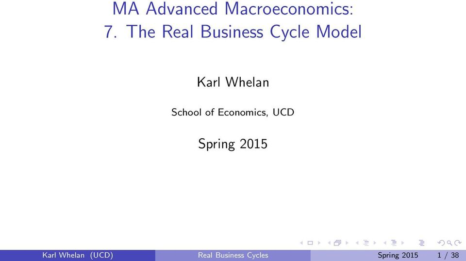 School of Economics, UCD Spring 2015 Karl