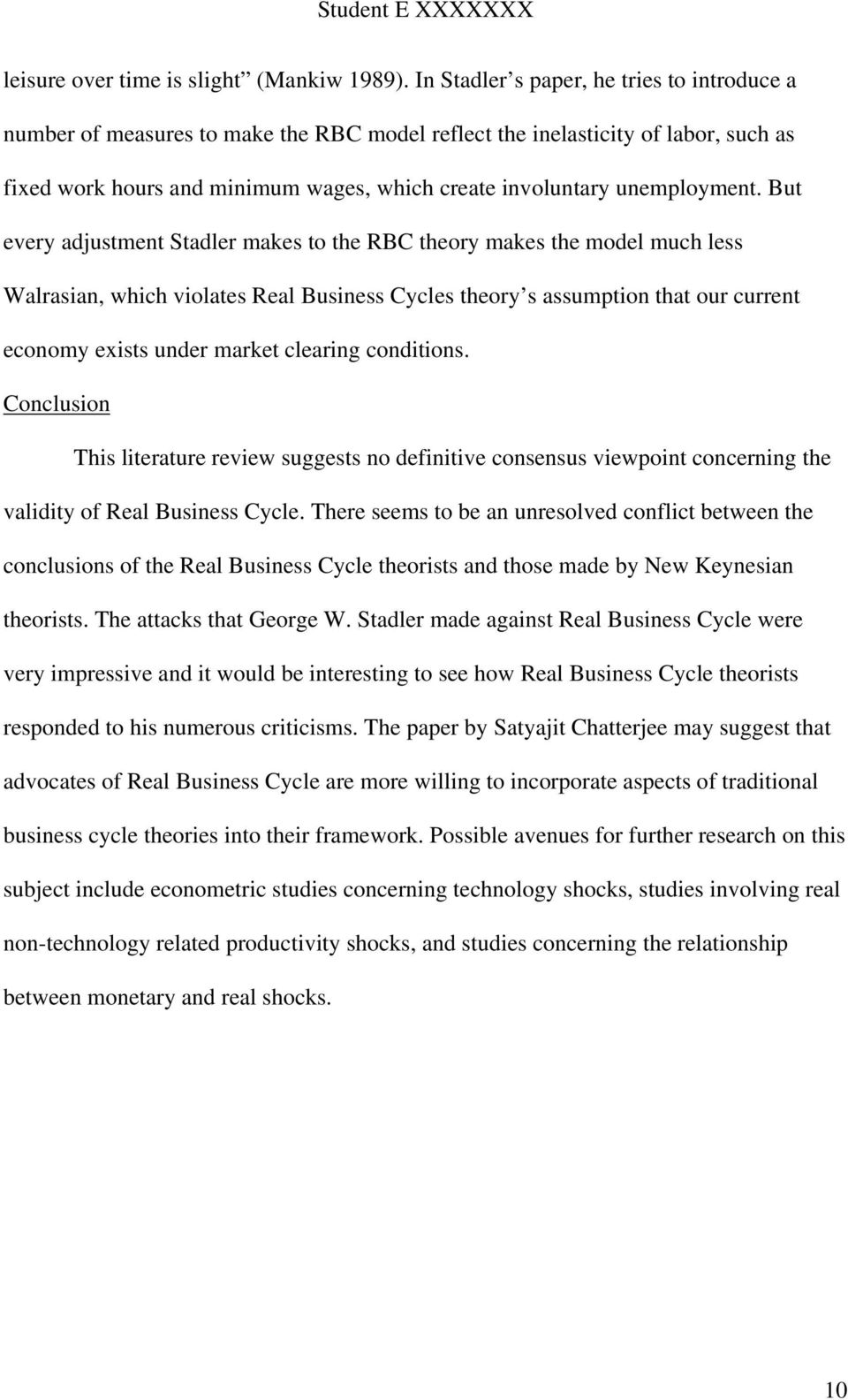business cycle theory definition