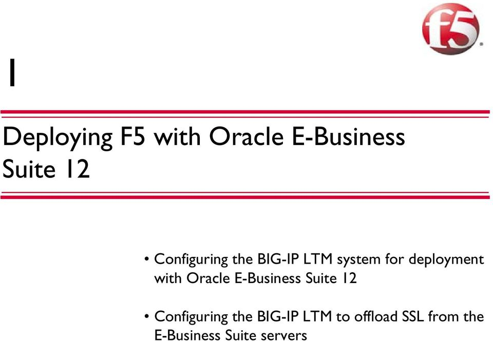 with Oracle E-Business Suite 12 Configuring the