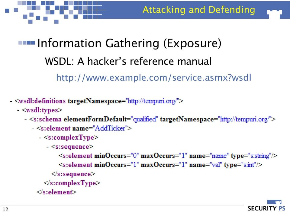 WSDL: A hacker s reference manual