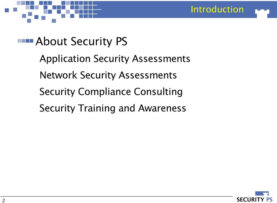 Network Security Assessments Security