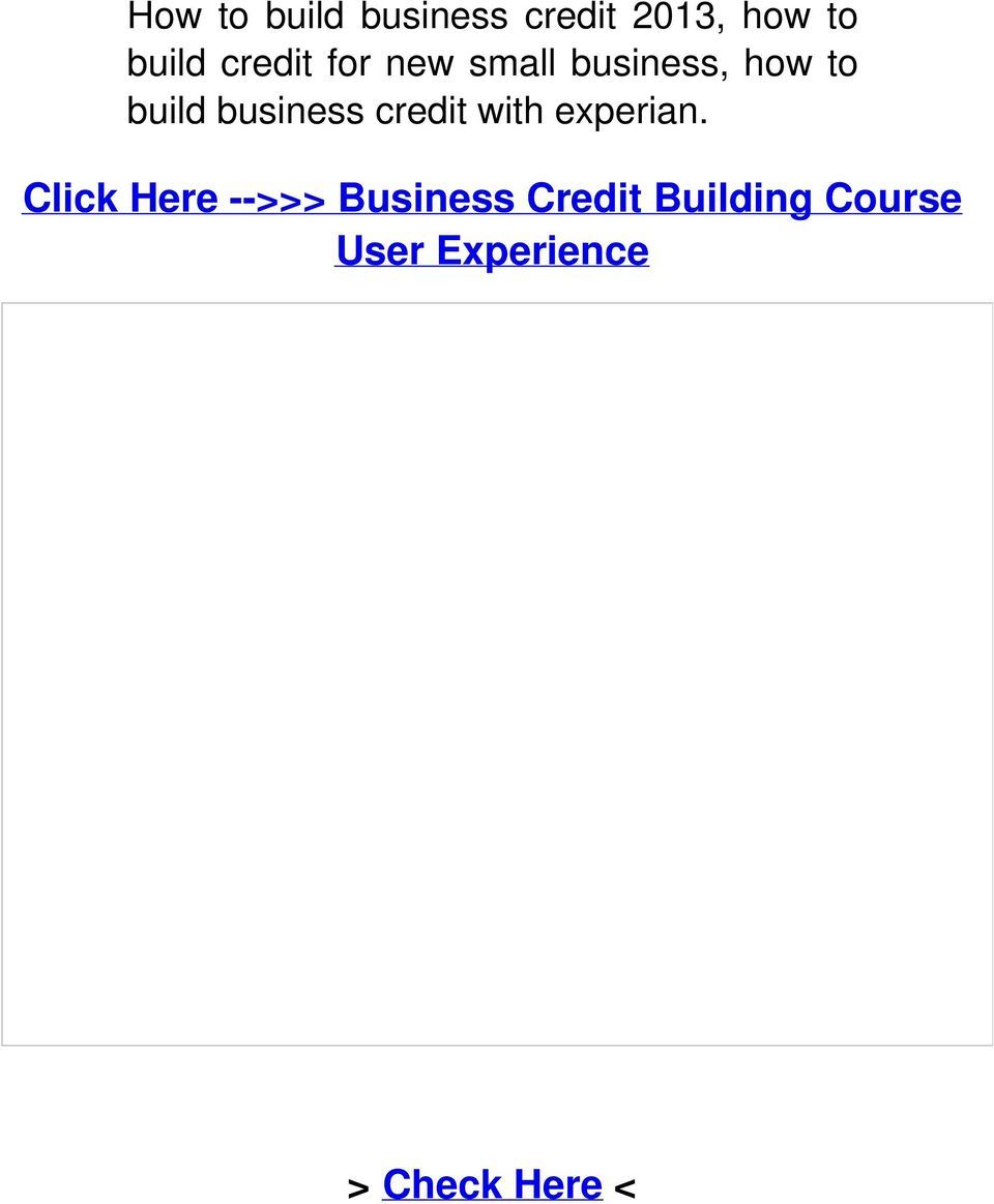 business credit with experian.
