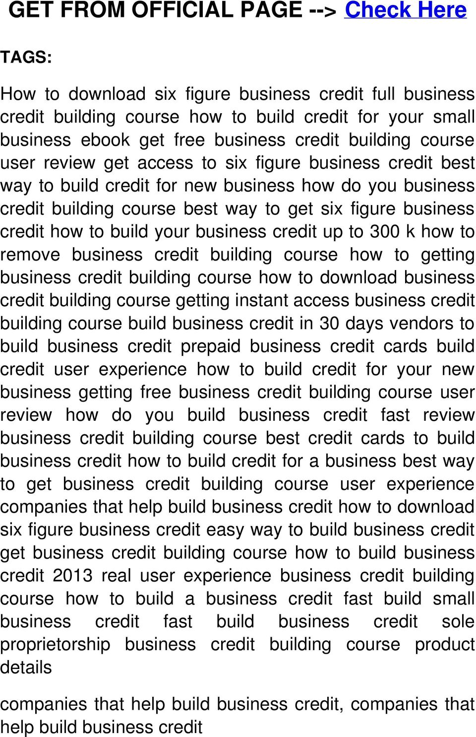 how to build your business credit up to 300 k how to remove business credit building course how to getting business credit building course how to download business credit building course getting