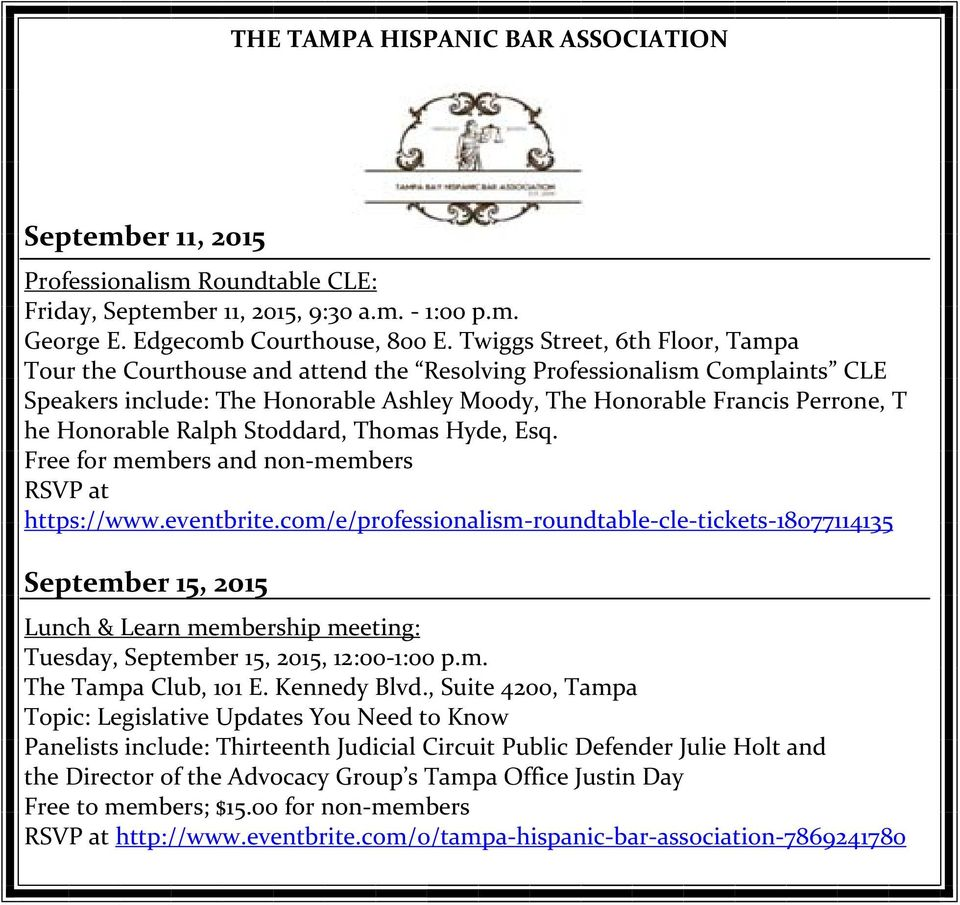 Ralph Stoddard, Thomas Hyde, Esq. Free for members and non members RSVP at https://www.eventbrite.