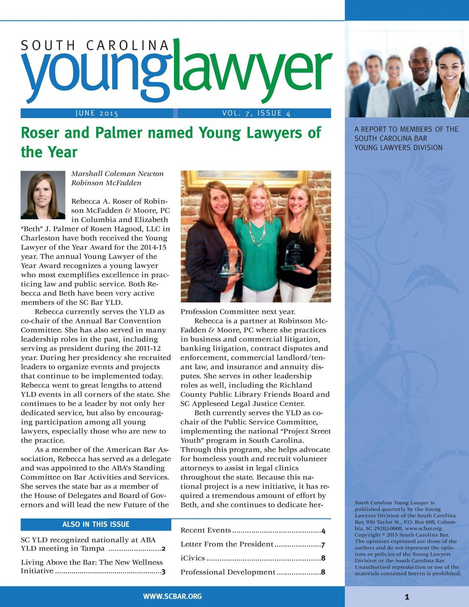 younglawyer roser and palmer named young lawyers of the year
