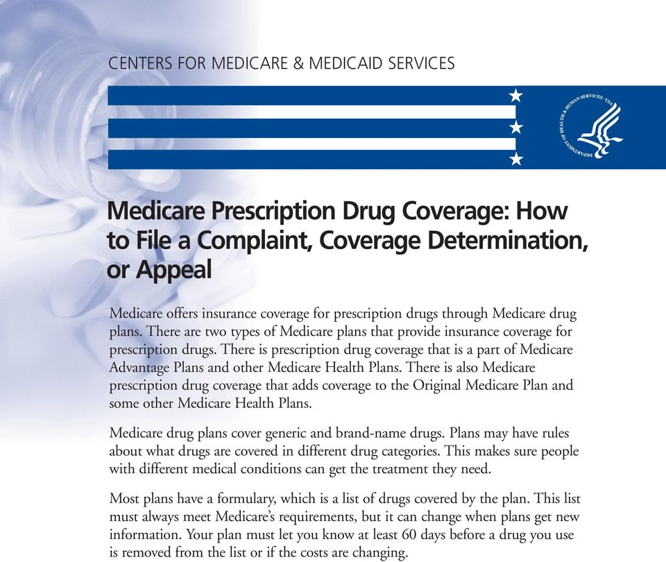 There is prescription drug coverage that is a part of Medicare Advantage Plans and other Medicare Health Plans.