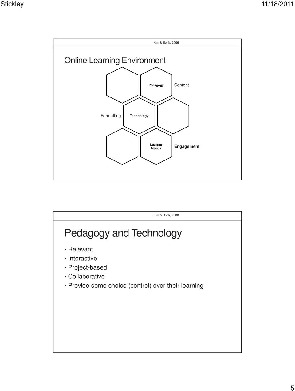 2006 Pedagogy and Technology Relevant Interactive