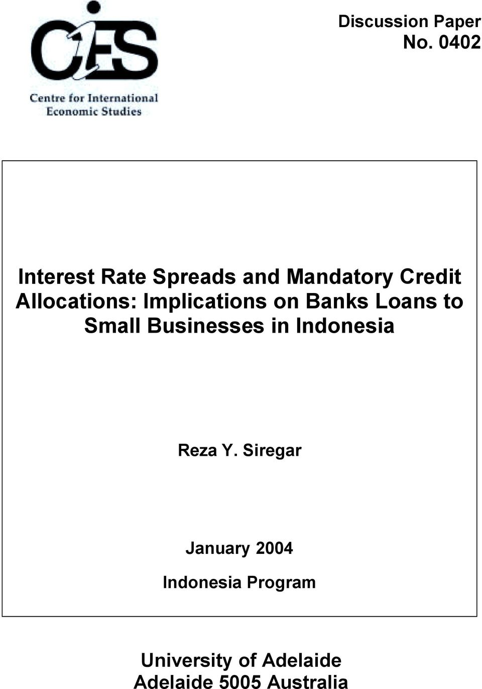 Implicaion on Bank oan o Small Buinee in Indoneia