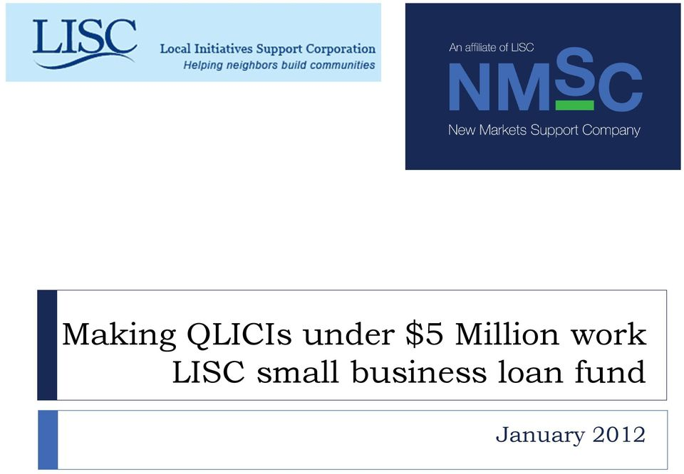 LISC small business
