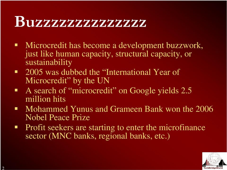 of microcredit on Google yields 2.